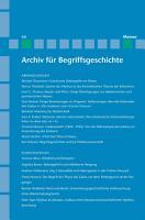 Archiv f  r Begriffsgeschichte   Archiv f  r Begriffsgeschichte  Band 44 PDF