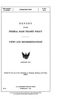 Report on the Federal Mass Transit Policy PDF