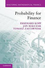 Probability for Finance PDF