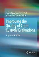 Improving the Quality of Child Custody Evaluations PDF