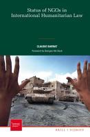 Status of NGOs in International Humanitarian Law PDF
