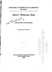 Boone's Wilderness Road: Volume 6