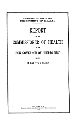 Annual Report of the Commissioner of Health PDF