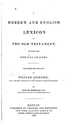 A Hebrew and English Lexicon of the Old Testament PDF