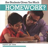 Are Students Given Too Much Homework  PDF