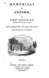 Memorials of Oxford: Volume 1