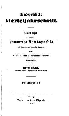 Homoeopathische vierteljahrsschrift PDF
