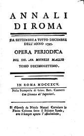 Annali di Roma ...: opera periodica, Volume 17