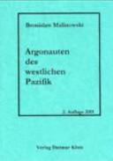 Argonauten des westlichen Pazifik PDF