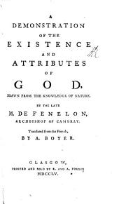 A Demonstration of the Existence and Attributes of God ... The second edition, with large additions. Translated by A. Boyer. With a portrait. MS. note