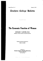The Economic Function of Woman
