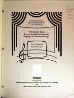 USC Entertainment Law Institute PDF