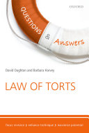 Questions & Answers Law of Torts