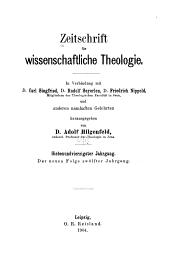 Zeitschrift für wissenschaftliche Theologie: Band 47