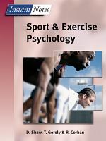 Sport and Exercise Psychology PDF
