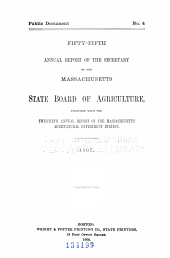 Annual Report of the Secretary of the Massachusetts State Board of Agriculture: Volume 55