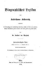 Biographisches lexikon des kaiserthums Oesterreich: enthaltend die lebensskizzen der denkwürdigen personen, welche seit 1750 in den österreichischen kronländern geboren wurden oder darin gelebt und gewirkt haben, Band 32