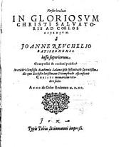 Versus epinikioi In Gloriosvm Christi Salvatoris Ad Coelos Ascensvm