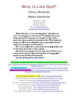 Who is Like God PDF