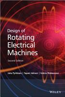 Design of Rotating Electrical Machines PDF