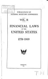 Laws of the United States Concerning Money, Banking, and Loans, L778-l909