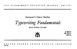 Typewriting Fundamentals