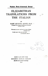 Elizabethan Translations from the Italian