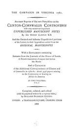 The Campaign in Virginia, 1781: Volume 1