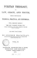 Puritan theology  or  Law  grace  and truth  discourses PDF