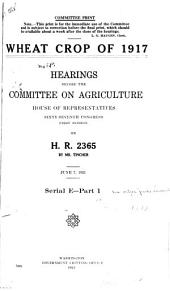 Soldiers' Institute--occupation of Mount Weather: Hearings Before the Committee on Agriculture (House of Representatives, Sixty-Seventh Congress, First Session on H.R. 5901) ...