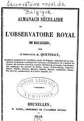 Almanach séculaire de l'Observatoire royal de Bruxelles