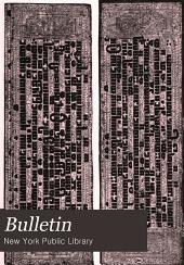 Bulletin: Volume 18, Part 1