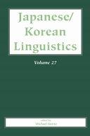 Japanese Korean Linguistics Volume 27 PDF