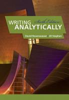 Writing Analytically PDF
