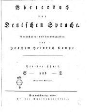 Woerterbuch der Deutschen Sprache  Veranstaltet herausgegeben von Joachim Heinrich Campe  Erster    funfter und lezter  Theil PDF