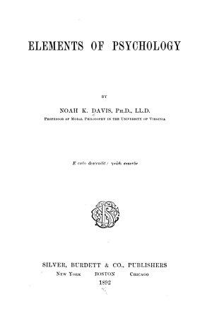 Elements of psychology   PDF