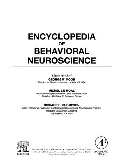 Encyclopedia of Behavioral Neuroscience  H O PDF