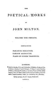 The Poetical Works of John Milton: Volume 4