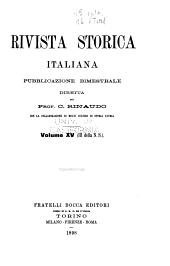 Rivista storica italiana: Volumi 15-16