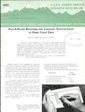 Port-a-Punch recording and computer summarization of pellet count data