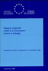 Rapport explicatif relatif à la Convention contre le dopage