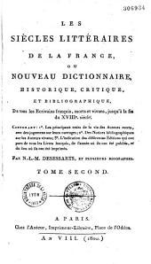 Nouveau dictionnaire bibliographique portatif, ou, essai de bibliographie universelle...
