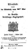 Aktenst  cke betreffend das B  ndni   vom 26  Mai und die deutsche Verfassungs Angelegenheit PDF