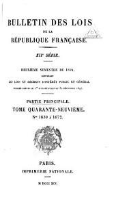 Bulletin des lois de la République française: Volume49