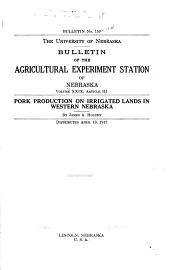 Bulletin of the Agricultural Experiment Station of Nebraska