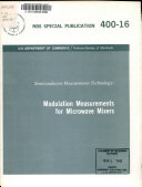 Modulation Measurements for Microwave Mixers