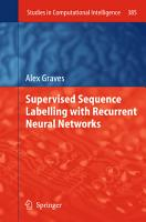 Supervised Sequence Labelling with Recurrent Neural Networks PDF