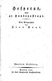 Hesperus; oder, 45 hundsposttage: Eine biographie, Band 2