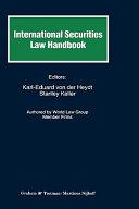 International Securities Law Handbook