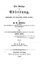 Die Gesetze der Ableitung in physiologischer und therapeutischer Hinsicht untersucht